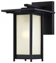 Westinghouse 6203800 - 1 Light Wall Fixture Textured Black Finish with Frosted Glass