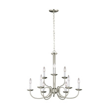 Sea Gull 32810-962 - Nine Light Chandelier
