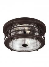 Sea Gull 7824402-71 - Two Light Outdoor Ceiling Flush Mount