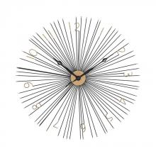 Sterling Industries 351-10230 - Shockfront Black and Gold 36-Inch Metal Wall Clock